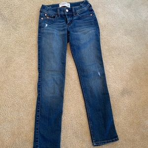 Girls Abercrombie skinny jeans 7/8- excellent